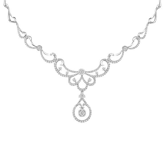 Wedding Collection 18K White Gold Diamond Necklace