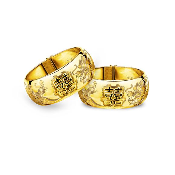 「Double Happiness 」Gold bangles- G01TG0002E/F/G/H/I