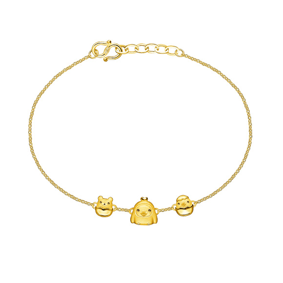 輕鬆小熊™系列小雞足金手鏈