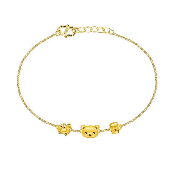 輕鬆小熊™ 系列足金手鏈