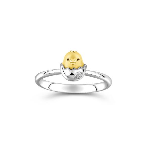 輕鬆小熊™系列小雞18K金鑽石戒指