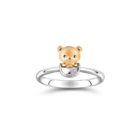 輕鬆小熊™系列18K金鑽石戒指