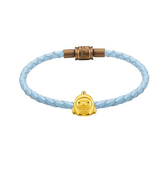 輕鬆小熊™系列小雞足金立體串飾