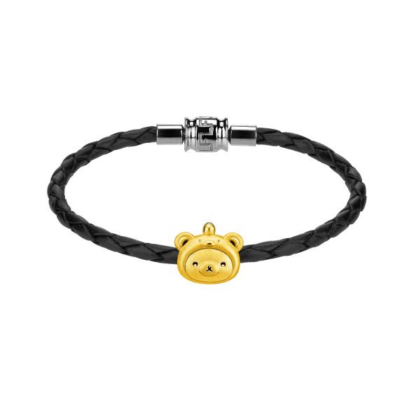 輕鬆小熊™系列「輕鬆小熊™」小雞頭套造型足金立體串飾
