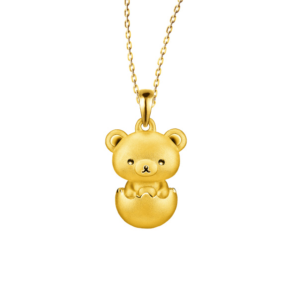 「輕鬆小熊™」系列足金立體吊墜