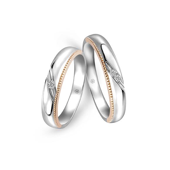 婚嫁系列 18K金钻石对装戒指