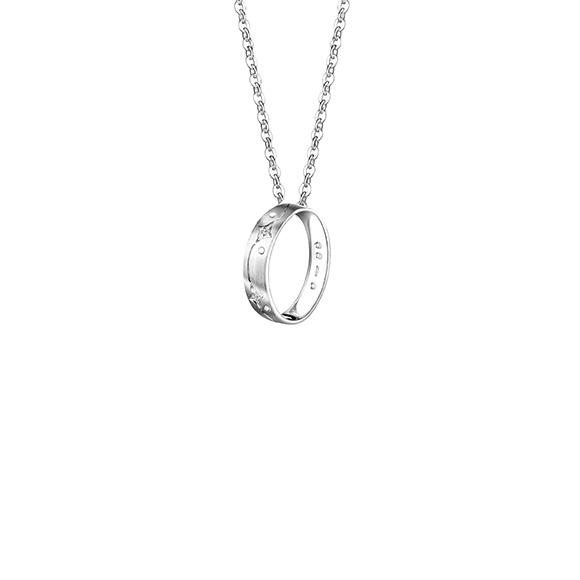 愛恆久系列18K金(白色)鑽石吊墜(網絡專款)
