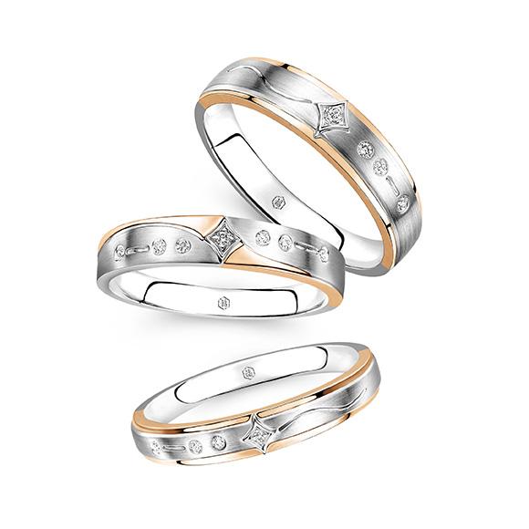 爱恒久系列18K金钻石情侣戒指