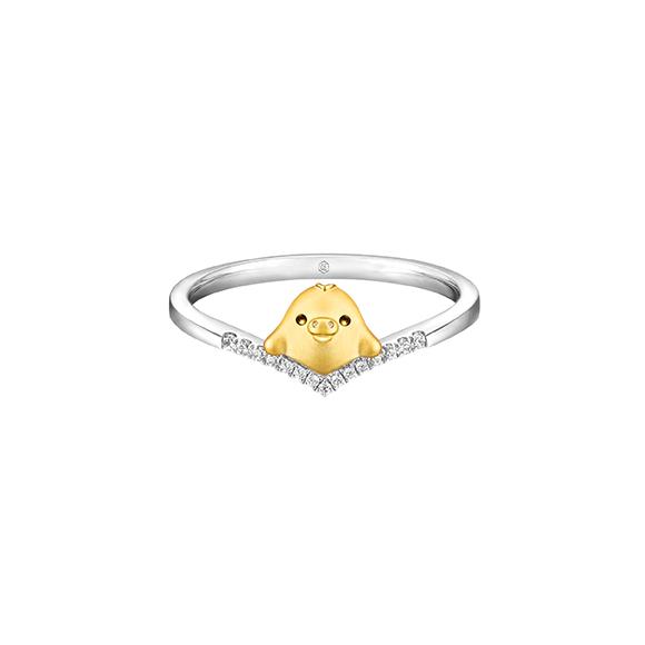 轻松小熊™系列小鸡18K金钻石戒指