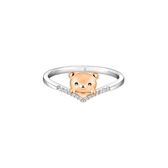 轻松小熊™系列18K金钻石戒指