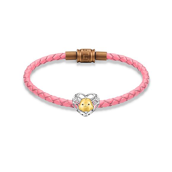 轻松小熊™系列小鸡18K金钻石串饰