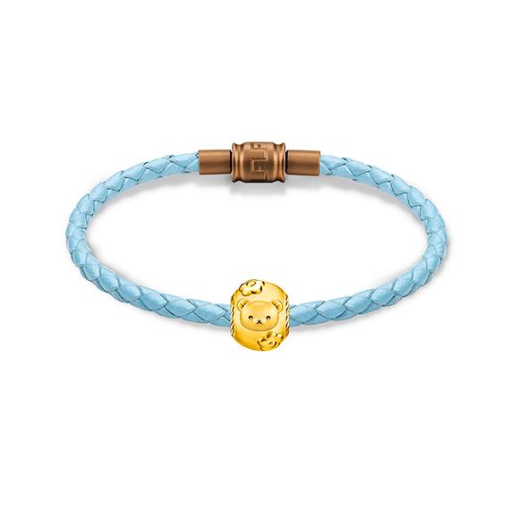 輕鬆小熊™系列足金立體串飾