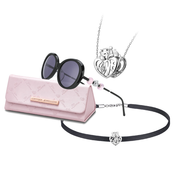 爱很美「抱抱爱」钻石串饰连太阳眼镜慈善套装