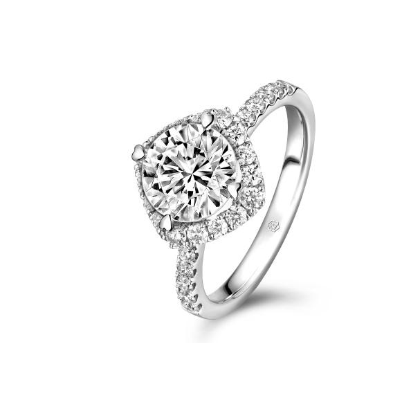 爱很美系列18K金钻石戒指