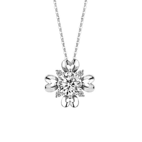 爱很美系列18K金钻石挂坠