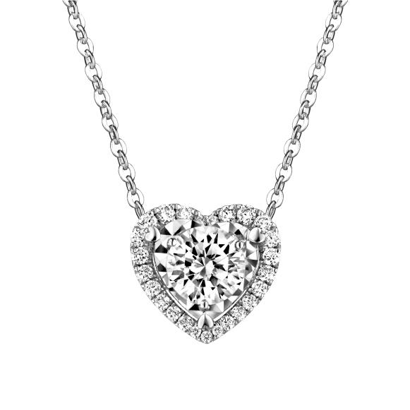 爱很美系列18K金(白色)钻石项链