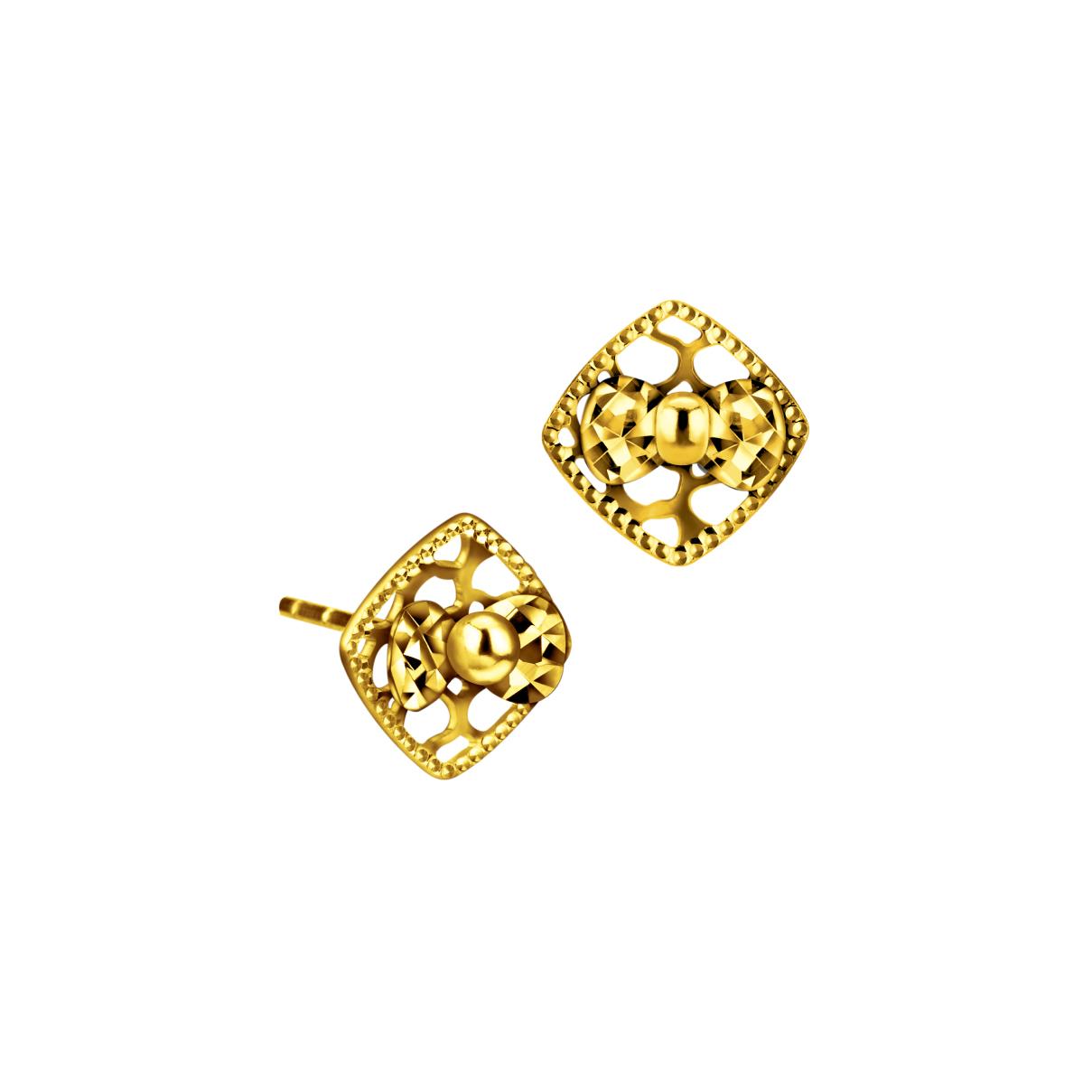 Goldstyle小蝶結耳環