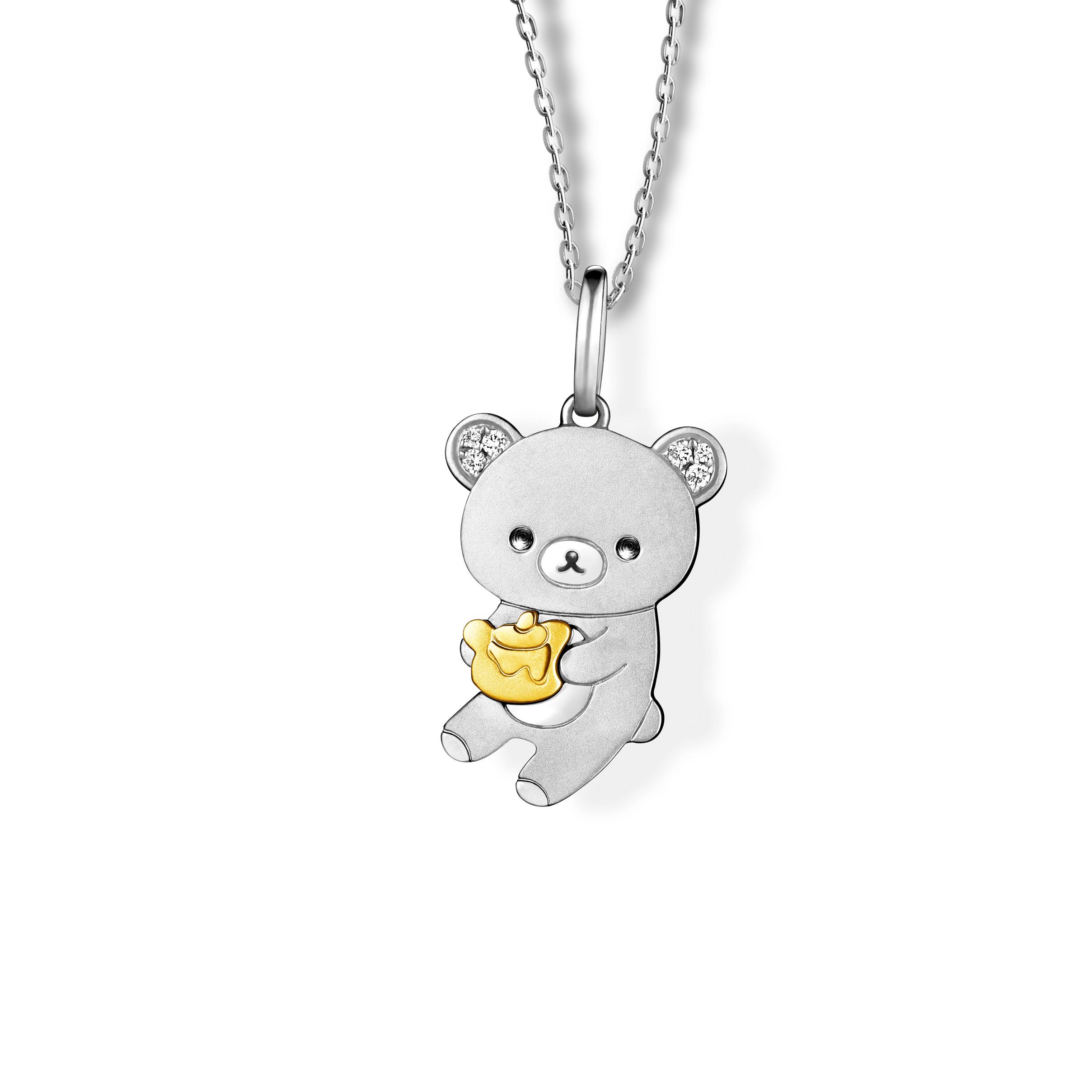 轻松小熊™系列18K金钻石挂坠