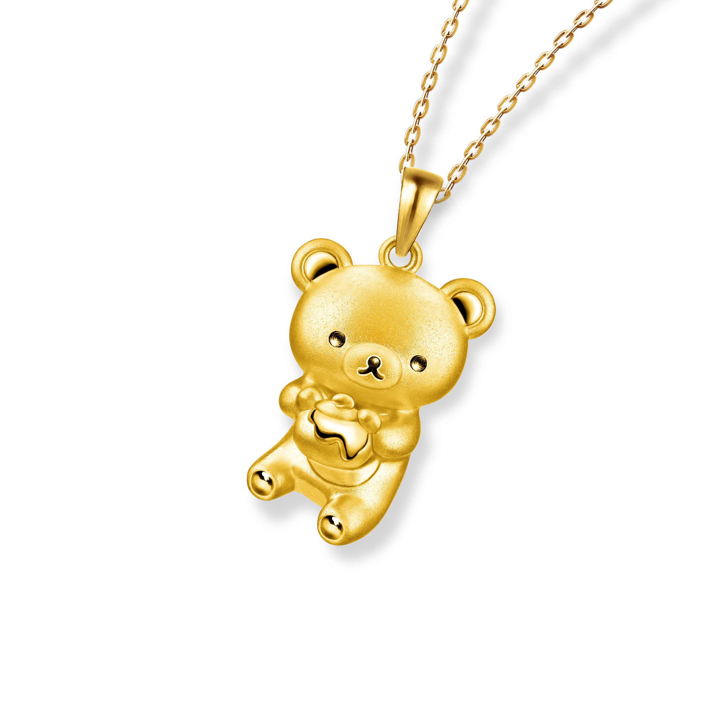 轻松小熊™系列足金立体挂坠