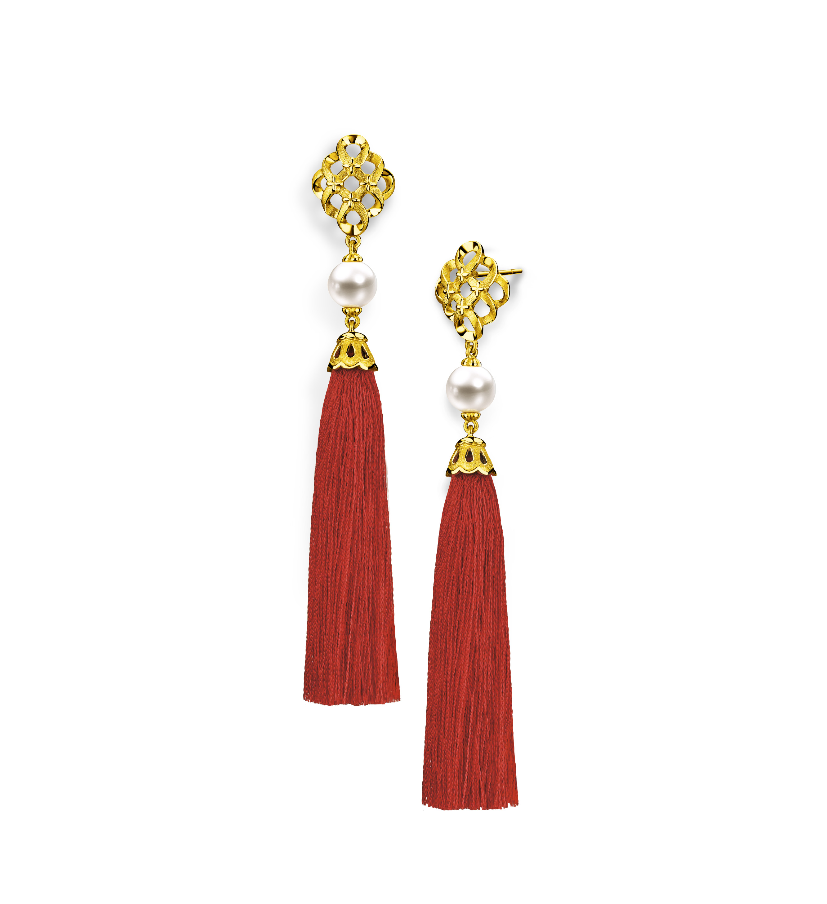 Beloved Collection Dragon & Phoenix with Pearl Earrings