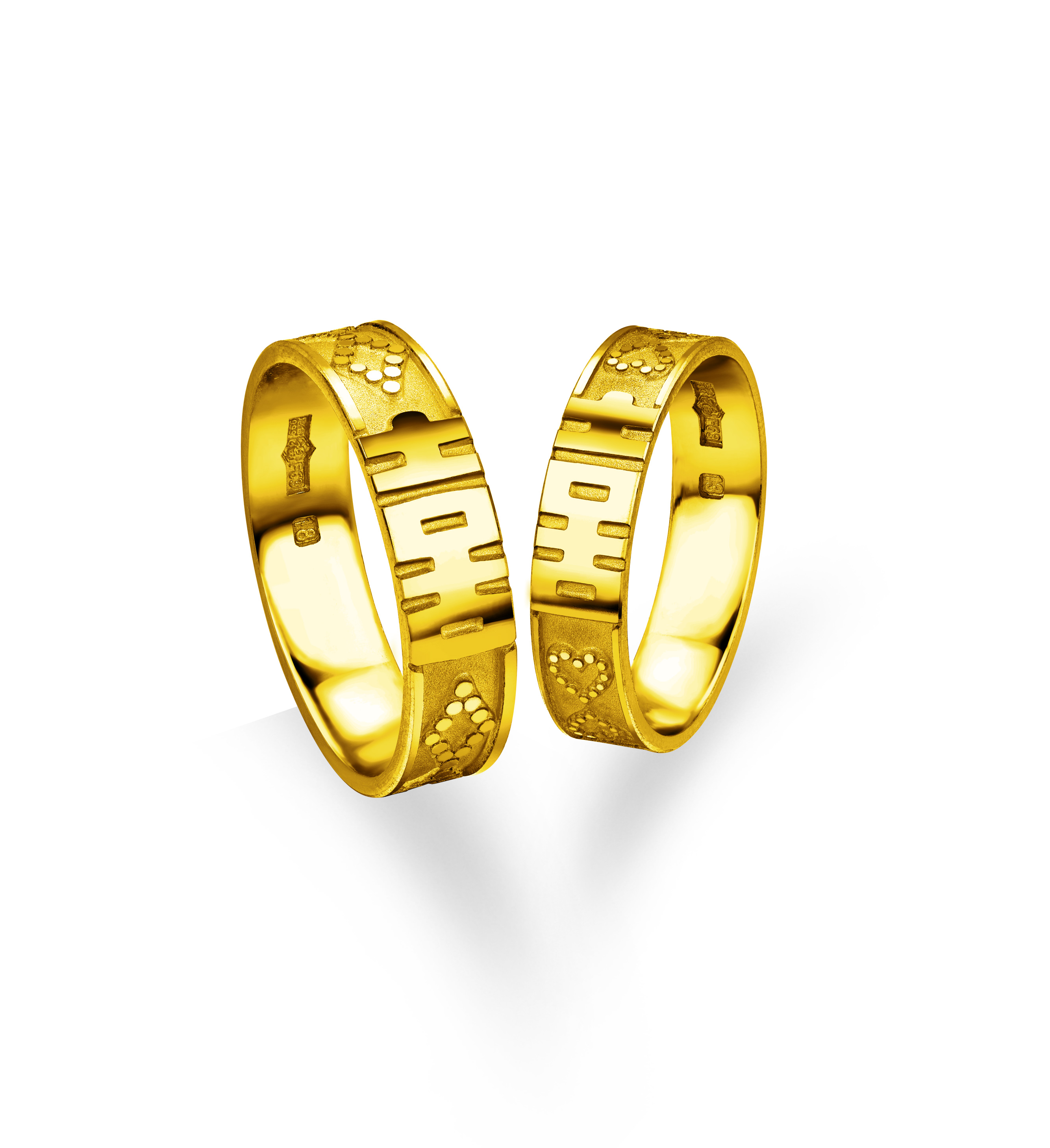 Beloved Collection Double Happiness Rings