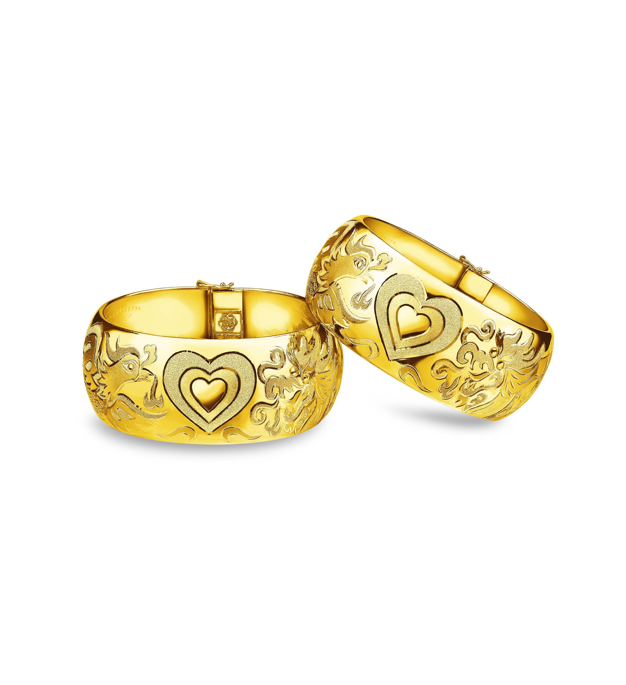 Beloved Collection The Love of Dragon & Phoenix Bangle