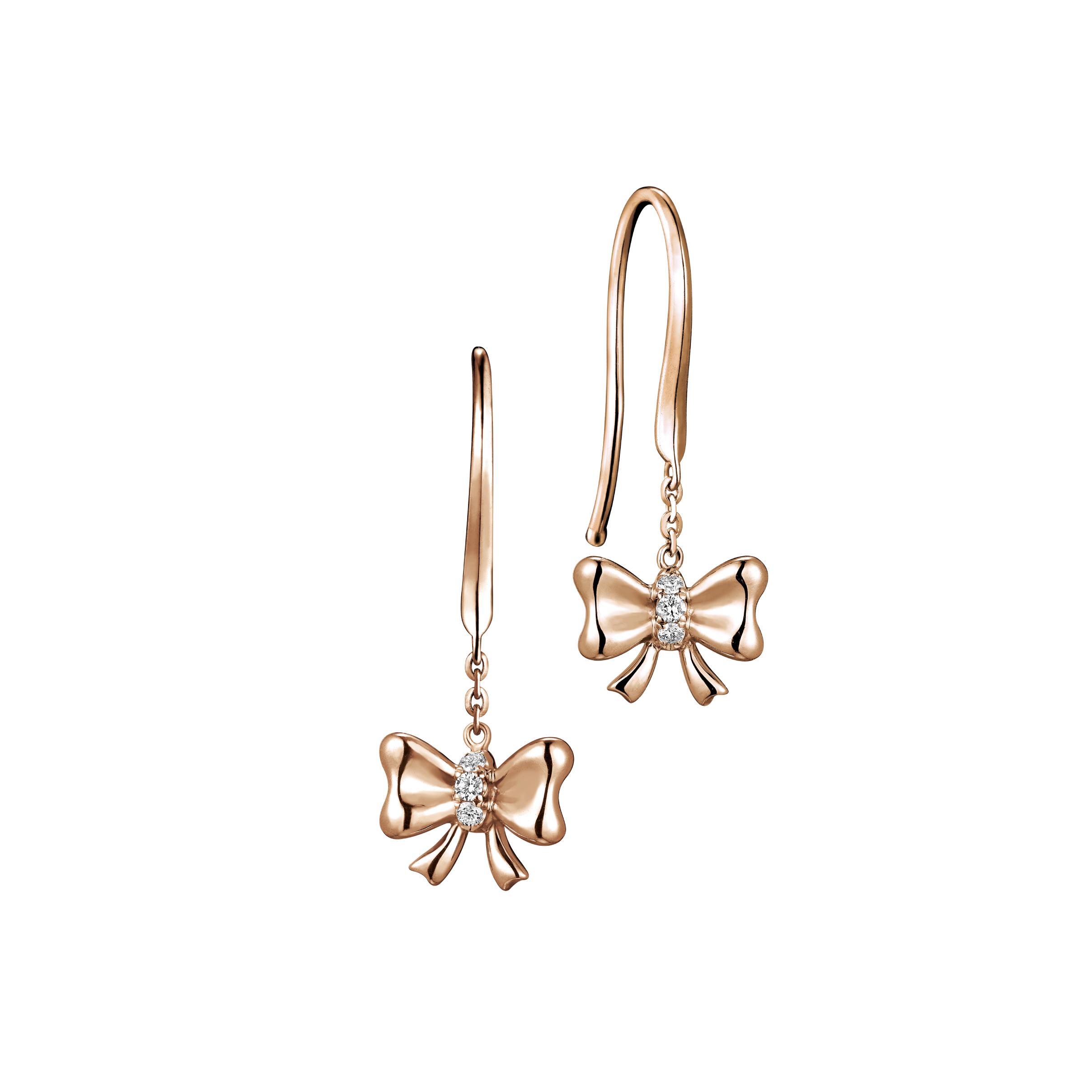 Dear Q Pretty Sweetheart- Princess Bow Earrings