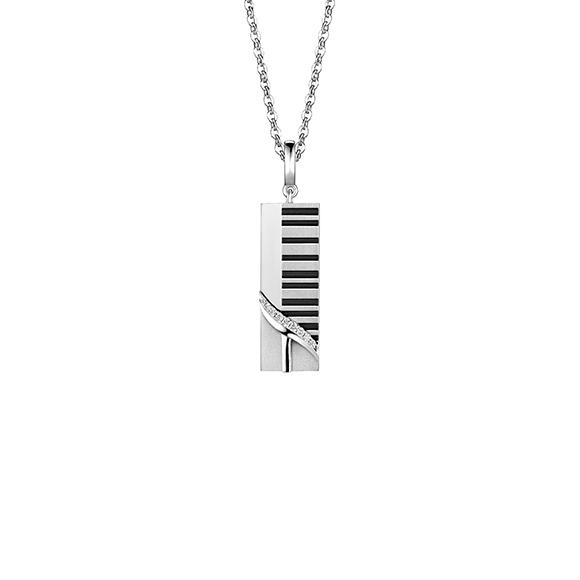 爱恒久系列18K金(白色)钻石挂坠(网络专款)