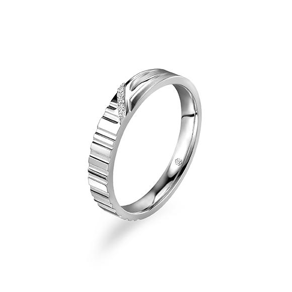 爱恒久系列18K金(白色)钻石戒指