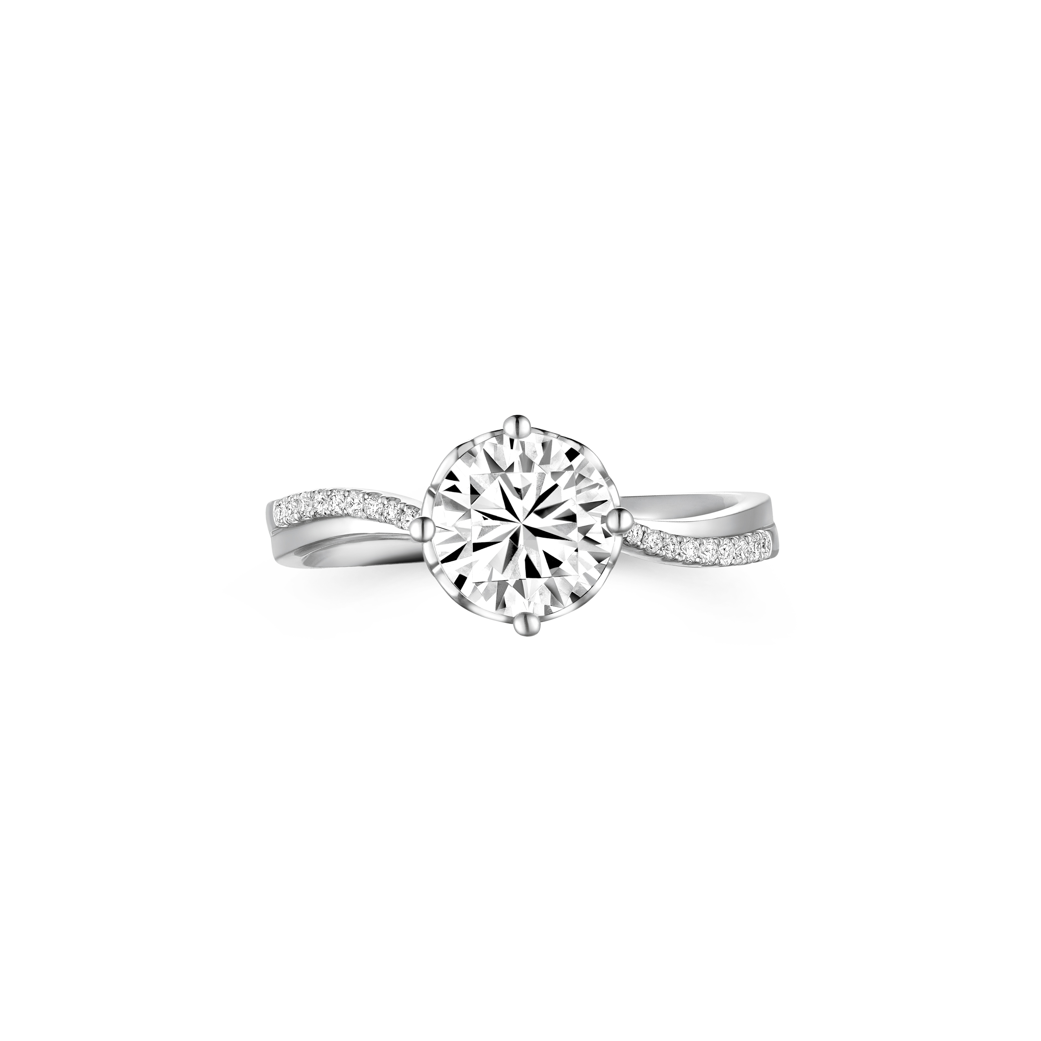 Wedding Collection 18K White Gold Diamond Ring