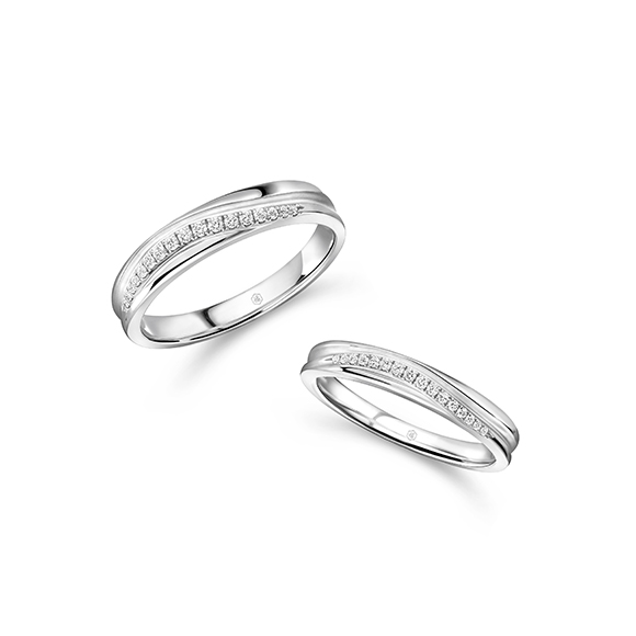 婚嫁系列18K金钻石对装戒指