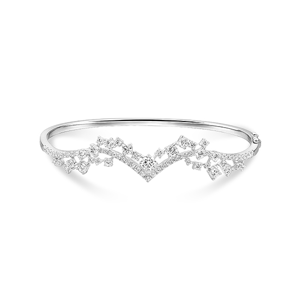 Wedding Collection 18K White Gold Diamond Bangle