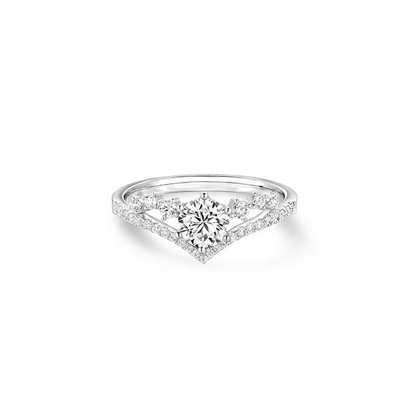 婚嫁系列18K金(白色)钻石戒指
