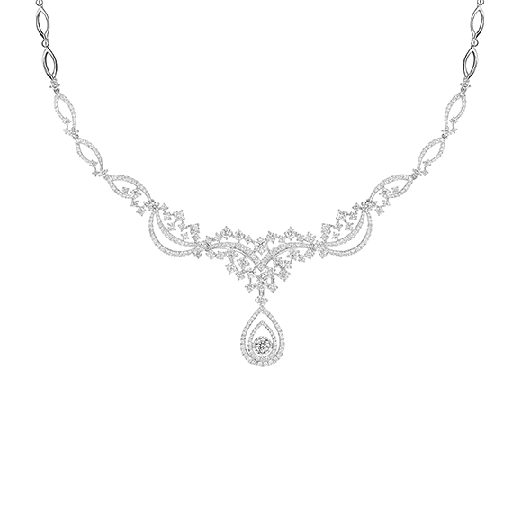 Wedding Collection 18K White Gold Diamond Necklaces