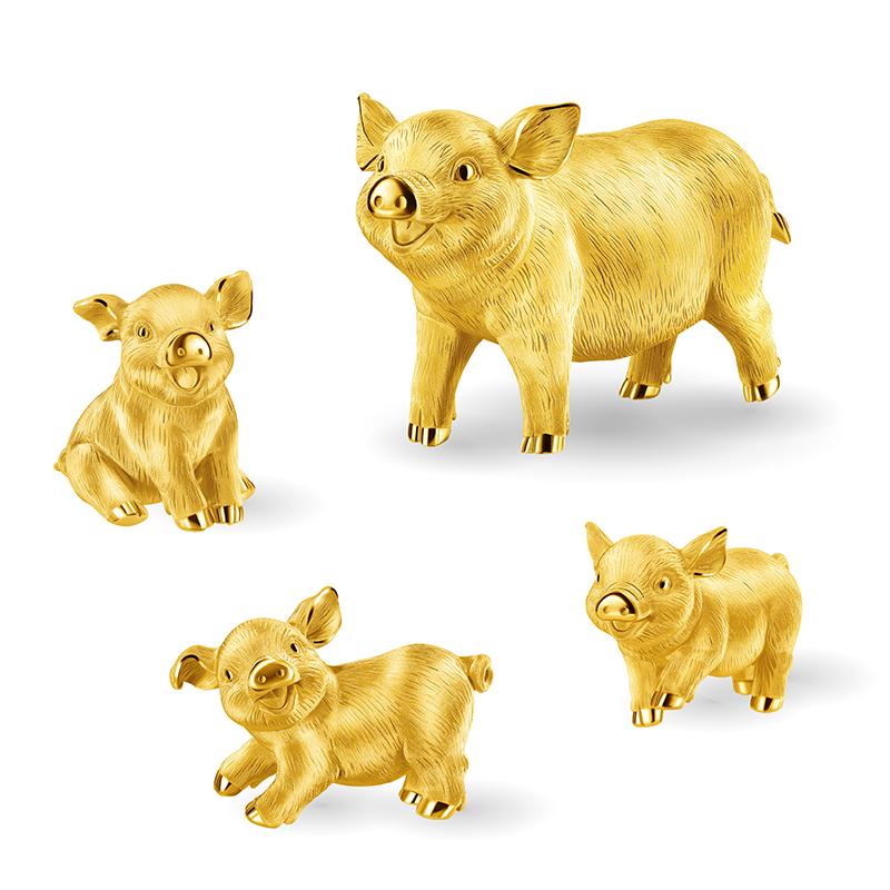 Prosperous Pig Gold Figurine