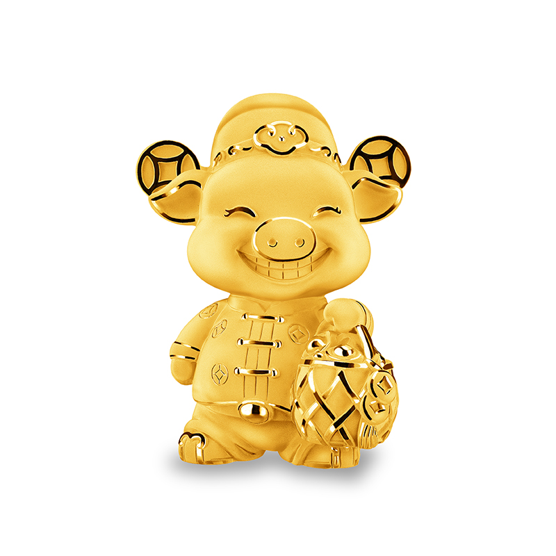 Wealthy Pig Gold Figurine