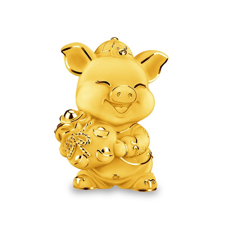 Lucky Pig Gold Figurine