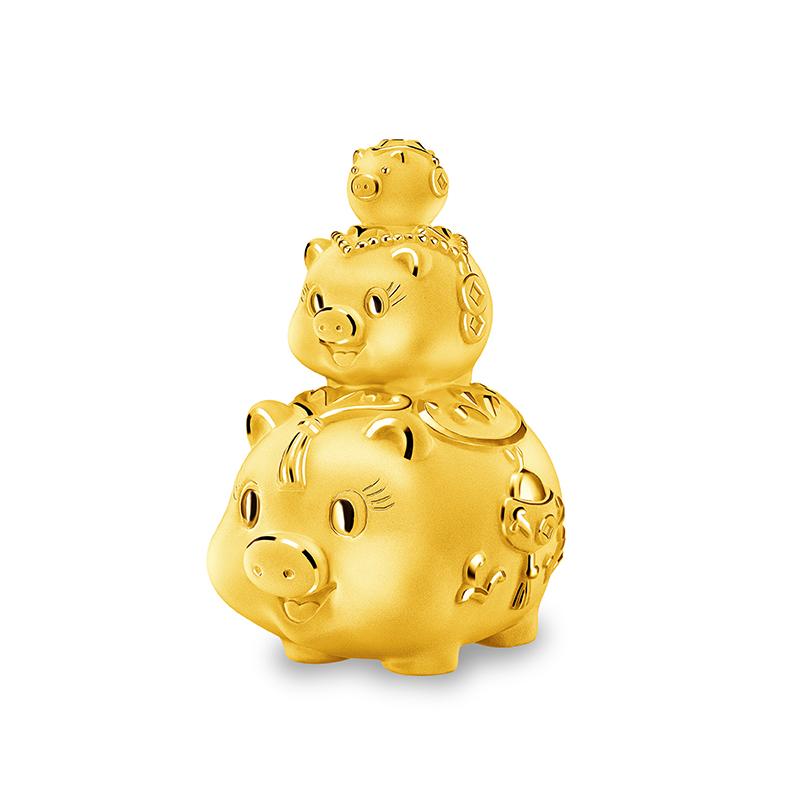 Promising Pig Gold Figurine