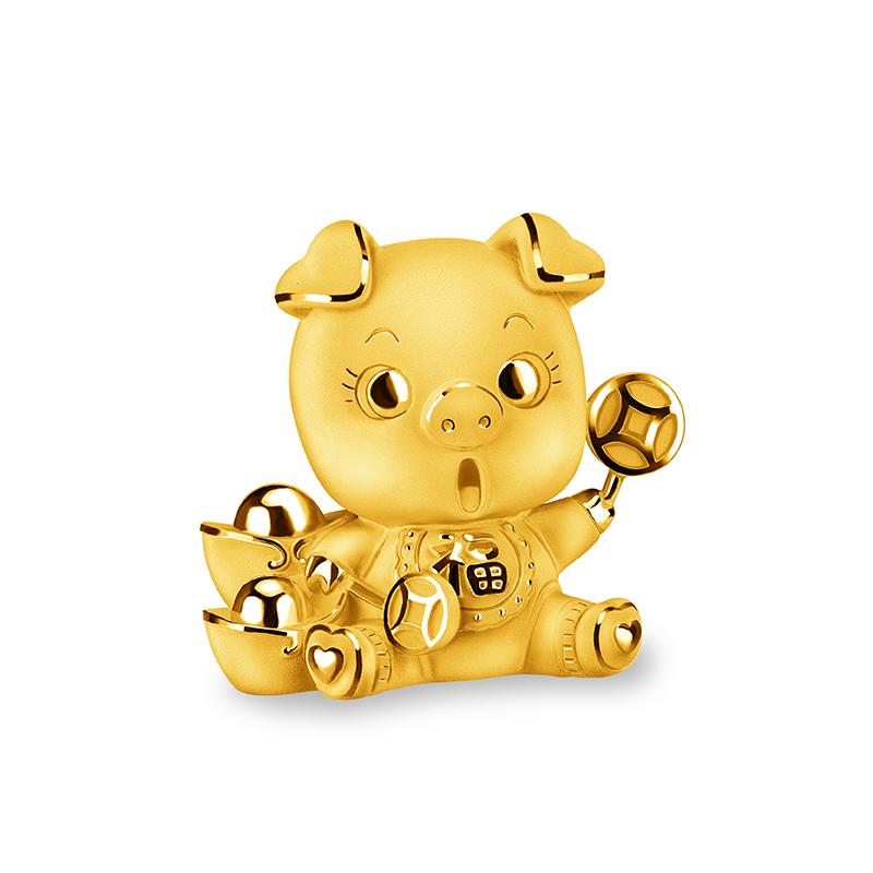 Treasure Pig Gold Figurine