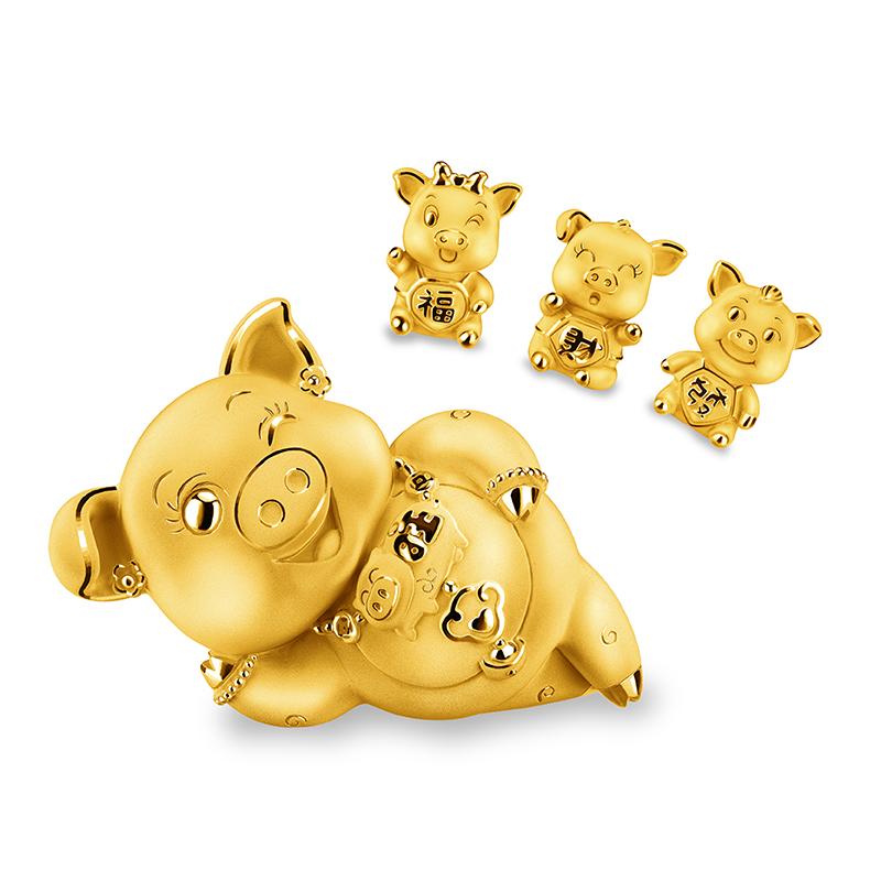 Fortune Pig Gold Figurine