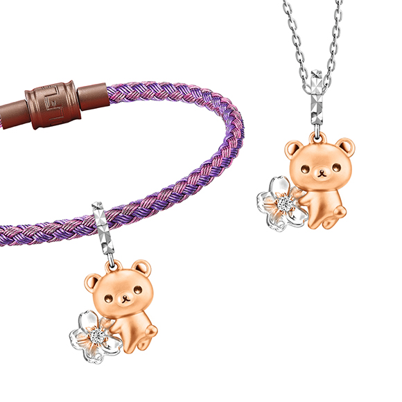 轻松小熊™系列轻松小熊™及樱花18K金钻石坠饰