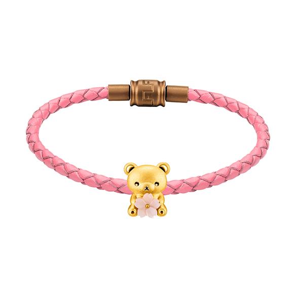 輕鬆小熊™系列輕鬆小熊™及櫻花黃金襯貝母立體串飾