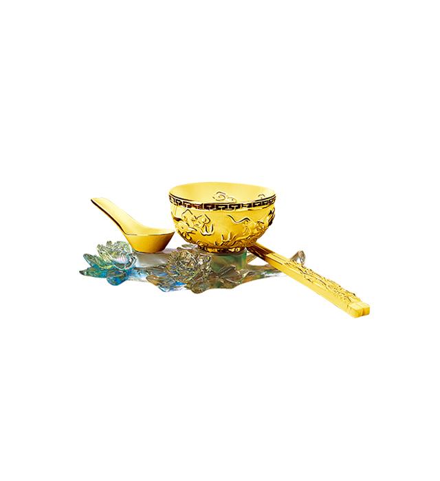 婚嫁系列-龍鳯碗筷(3件套)