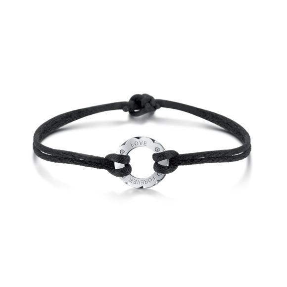 愛恆久系列18K金鑽石情侶手鏈(女裝手鏈)