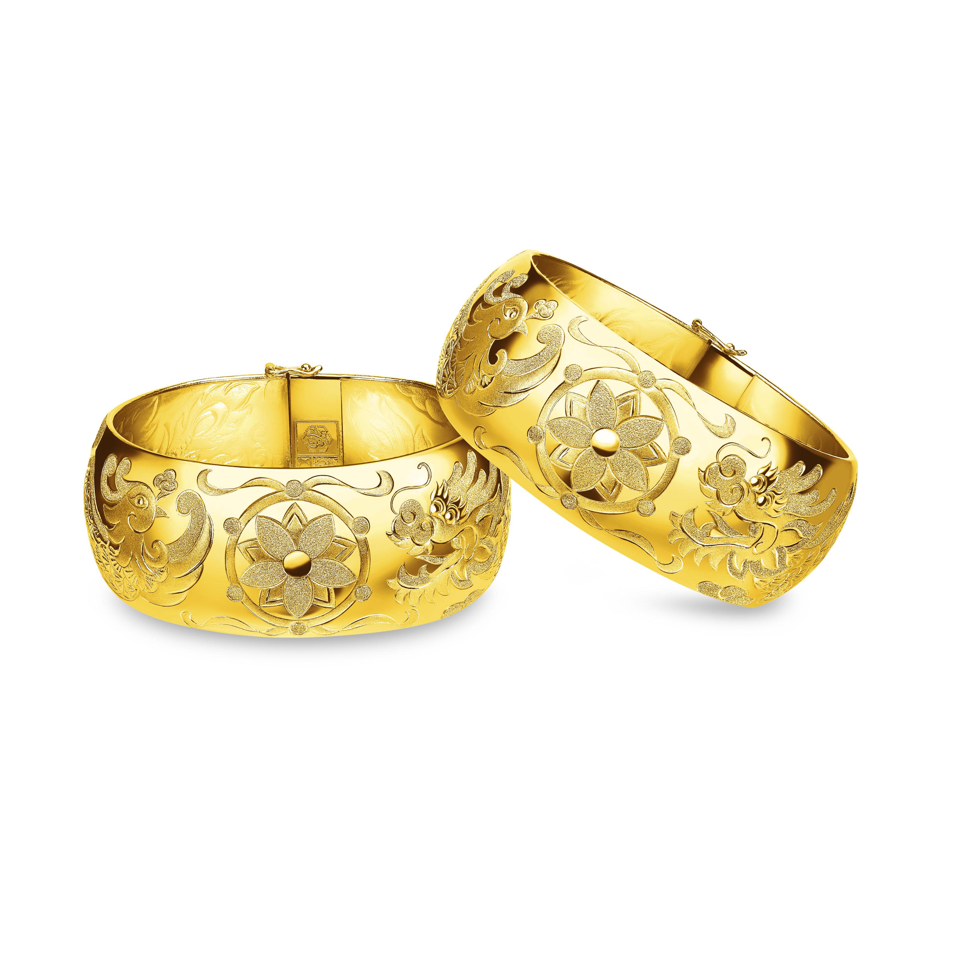 Beloved Collection Harmonious Marriage Dragon & Phoenix Bangles