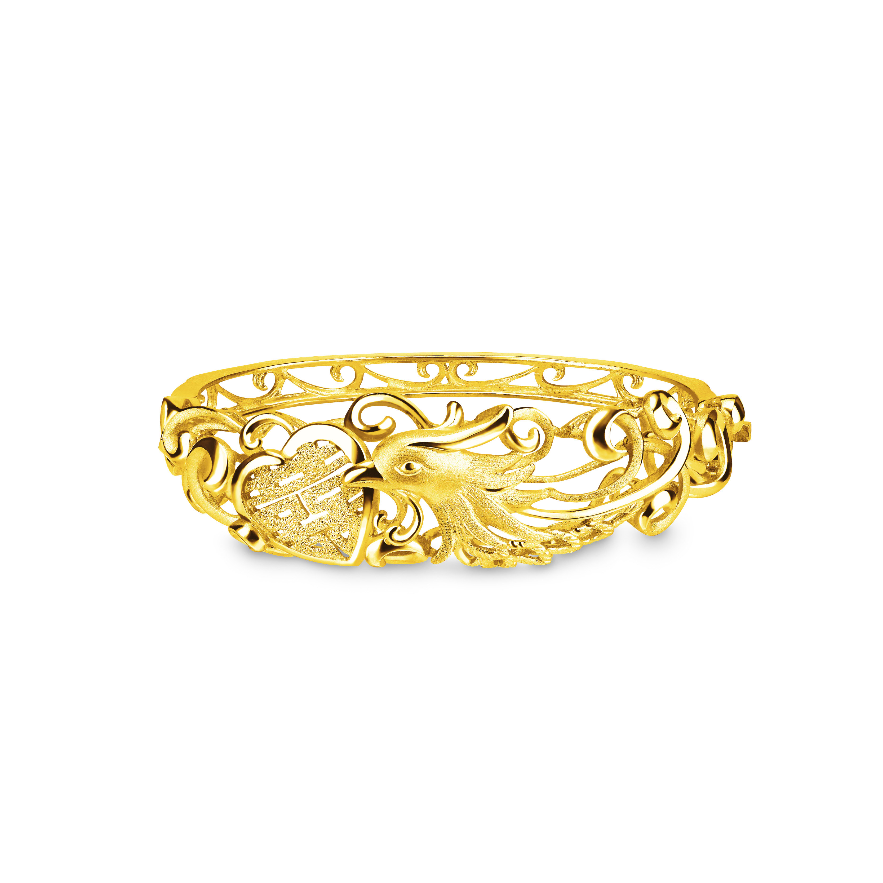 Beloved Collection Heart beats as One Phoenix Bangle