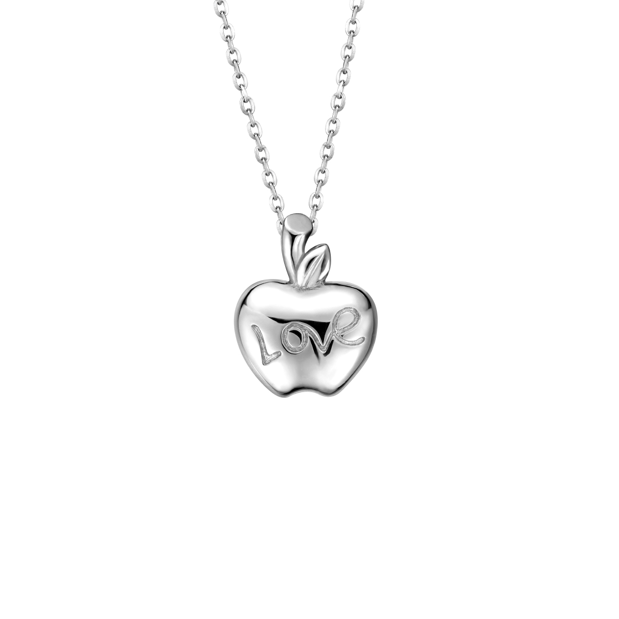 Pt Baby Darling Apple Pendant