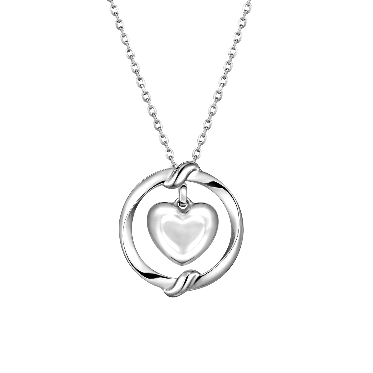 Pt Baby Darling Embrace Sweetheart Pendant
