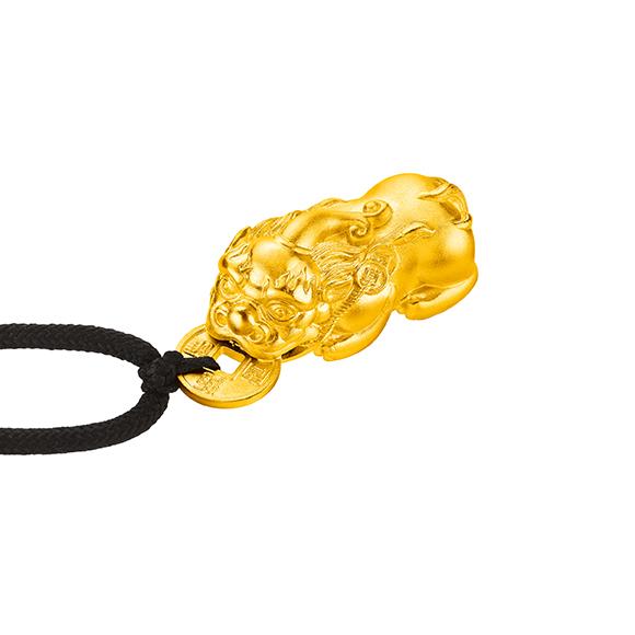 Antique Gold Fortune Pixiu Gold Pendant