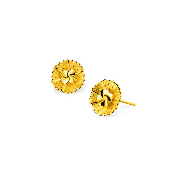 "Beloved Collection""Beloved Blossom""Gold Earrings"